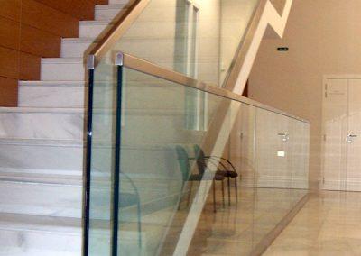 Barandilla combinada acero inoxidable y vidrio